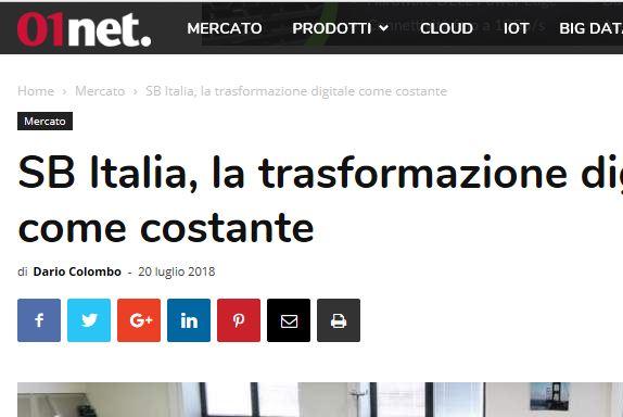 SB Italia - La trasformazione digitale come costante