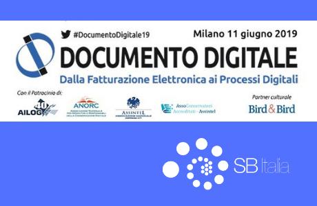 """SB Italia partecipa a """"Documento Digitale"""": Milano, 11 giugno 2019"""